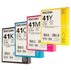 Ricoh 41 8 Pack Bundle (405761/2/3/4) (Genuine)