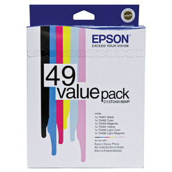 Epson T0491-6 6 Pack Bundle (Genuine)
