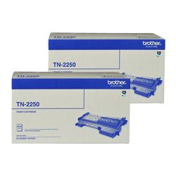 Brother TN-2250 2 Pack Bundle (Genuine)