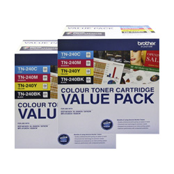 Brother TN-240 8 Pack Bundle (Genuine)