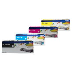 Brother TN-251 4 Pack Bundle (Genuine)