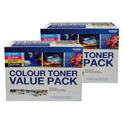 Brother TN-251/TN-255 8 Pack Bundle (Genuine)