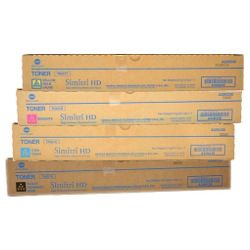 Konica Minolta TN321 4 Pack Bundle (A33K1/2/3/490) (Genuine)