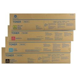 Konica Minolta TN413/TN613 4 Pack Bundle (A0TM151/250/350/450) (Genuine)